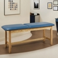 "Vinyl Treatment Table with Wood Frame 72""W x 27""D, 25269"