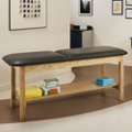 "Vinyl Treatment Table with Shelf 72""W x 30""D, 25272"