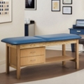 "Vinyl Treatment Table with Drawers 30""D, 25274"
