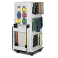 """Mobile Physical Therapy Equipment Cabinet with Weight Bar Rack  - 65""""H, 25289"""