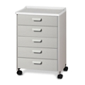 Five Drawer Mobile Treatment Cabinet, 25293