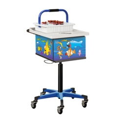 Pediatric Phlebotomy Cart with Lockable Cabinet, 25842