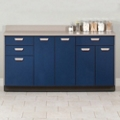 "Five Door Base Cabinet with Three Drawers - 54""W , 26020"