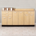 "Six Door Base Cabinet with Three Drawers - 54""W , 26021"
