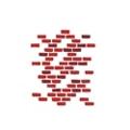 """Brick Wall Pediatric Wall Sticker - 55""""H, 82029"""