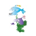 "Sea Life Pediatric Wall Sticker - 77""H, 82035"