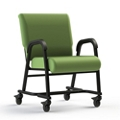 "Vinyl Chair with Locking Casters - 18.5""H, 26412"