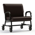 "Vinyl Chair with Locking Casters - 30""W Seat, 26419"