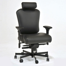 Ergonomic 24/7 Intensive Use Faux Leather Chair with Headrest, 56384