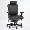 Ergonomic 24/7 Intensive Use Genuine Leather Chair with Headrest, 56385