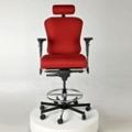 Ergonomic 24/7 Intensive Use Fabric Stool with Headrest, 56386