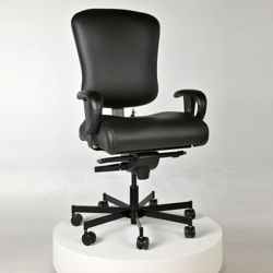 Ergonomic 24/7 Intensive Use Genuine Leather Chair, 56391