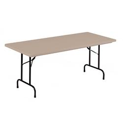 "Lightweight Plastic Folding Table - 72""W x 18""D, 46063"