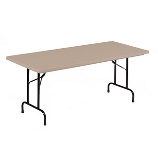 "Lightweight Plastic Folding Table - 72""W x 18""D, 46063"
