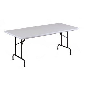 "Lightweight Plastic Folding Table - 96""W x 30""D, 46067"
