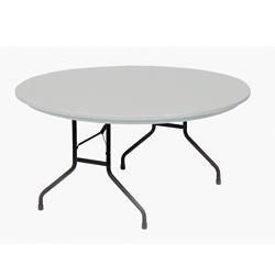 "Lightweight Plastic Folding Table - 60""DIA, 46068"