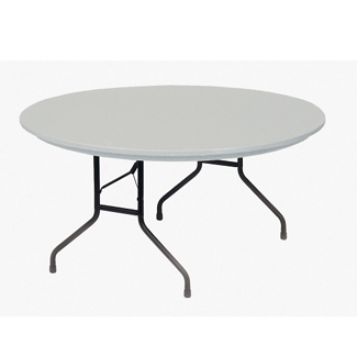 "Lightweight Plastic Folding Table - 60""DIA, 46068"