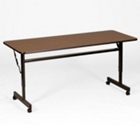 "24"" x 72"" Melamine Flip Top Table with Adjustable Height Legs, CD05500"