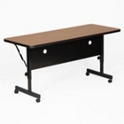 "24"" x 60"" Laminate Flip Top Table with Adjustable Height Legs, CD05503"