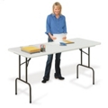 "Blow Molded Standing Height Folding Table - 36"" H, 41624"