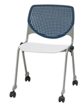 Perforated Back Polypropylene Stack Chair with Casters, 51027