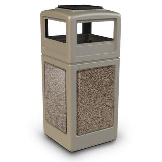 42 Gallon Ashtray Lid Waste Receptacle, 85630