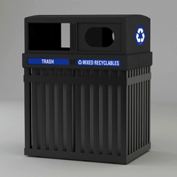 50 Gallon Double Waste Receptacle, 85634