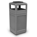 Dome Lid Waste Receptacle with Ashtray - 42 Gallon, 85869
