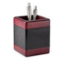 Rosewood and Leather Pencil Cup, 91289