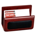 Rosewood and Leather Business Card Holder, 91290