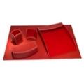 Five Piece Faux Leather Desk Accessory Set, 82636