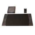 Three Piece Italian Patent Leather Desk Accessory Set, 82638