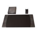 Three Piece Italian Patent Leather Desk Accessory Set, 82638