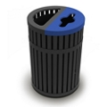 45 Gallon Waste Receptacle and Recycling Bin, 82298