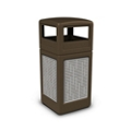 Dome Lid Waste Receptacle with Horizontal Design - 42 Gallon, 82380