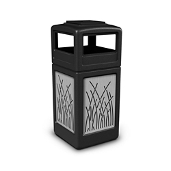 Ashtray Dome Lid Waste Receptacle with Reed Design - 42 Gallon, 82383