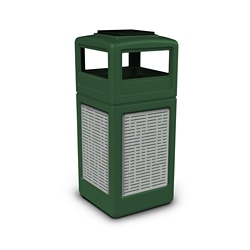 Ashtray Dome Lid Waste Receptacle with Horizontal Design - 42 Gallon, 82384
