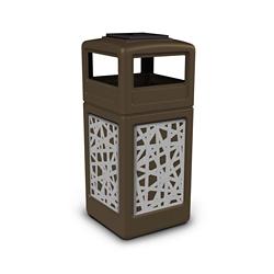 Ashtray Dome Lid Waste Receptacle with Intermingle Design - 42 Gallon, 82385