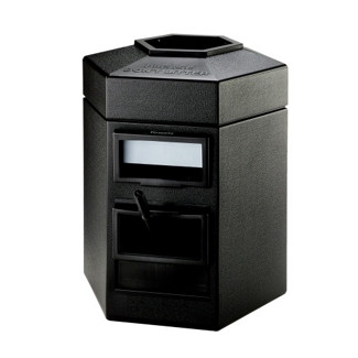 35 Gallon Waste Receptacle with Windshield Wash Station, 87499