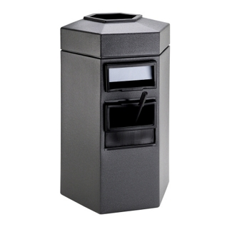 45 Gallon Waste Receptacle with Windshield Wash Station, 87500