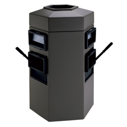 35 Gallon Waste Receptacle with 2 Windshield Wash Stations, 87501