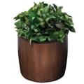 "Wood Look Planter - 21"" Diameter, 87509"