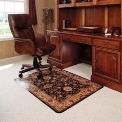 """45"""" x 53"""" Vinyl Chair Mat for Hard Floors - Meridian Design, 54266"""