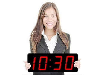 "Digital LED Clock with 5"" Red Numerals, 82747"