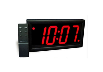 """Jumbo LED Alarm Clock with 4"""" Red Numerals, 82749"""