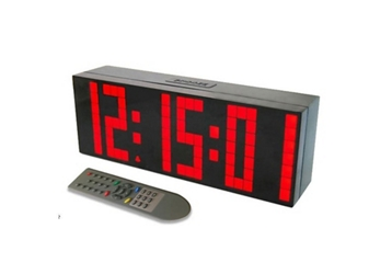"""Large Display LED Clock with 3"""" Numerals, 82750"""