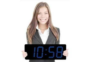 """Laser LED Clock with 5"""" Blue Numerals, 82751"""