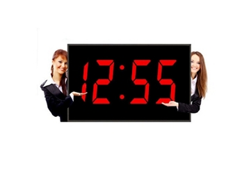 """Huge LED Wall Clock with 15"""" Red Numerals, 82754"""