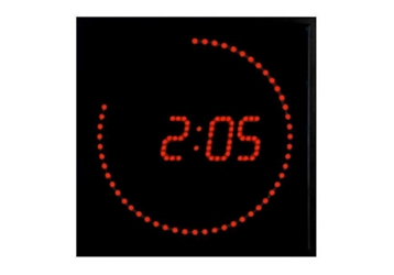 "Red Dot LED Clock 11"" x 11"", 82755"