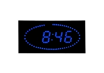 """Blue Dot LED Clock 16"""" x 8"""", 82756"""